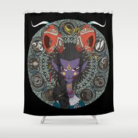 zodiac Shower Curtains featuring Zodiac : Capricorn by Det Tidkun