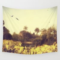 barcelona Wall Tapestries featuring CIUDADELA PARK BARCELONA by Victoria Herrera