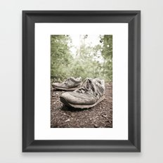 shoes for a decade, not for a year Framed Art Print