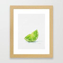 Summer Lime Framed Art Print