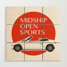 Midship Open Sports Wood Wall Art
