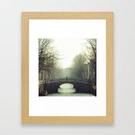 Bridging the canal Framed Art Print