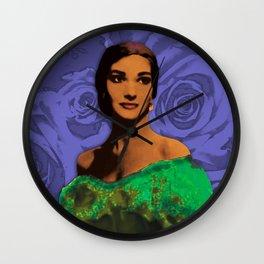 Maria Callas Stenciled Indigo Wall Clock