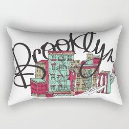Brooklyn Typography Rectangular Pillow