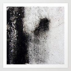 Negro sobre Blanco Art Print