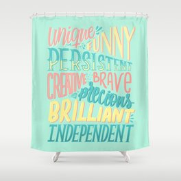 Kind words only Shower Curtain