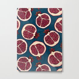 Pomegranate slices Metal Print
