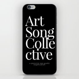 Art Song Collective iPhone Skin