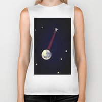 banjo Biker Tanks featuring Moon Banjo by Mel Moongazer