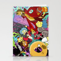 simpsons Stationery Cards featuring Simpsons Halloween Bonanza by Laura Von Burns