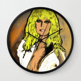 """""""Sunburn"""" Farrah Fawcett Wall Clock"""