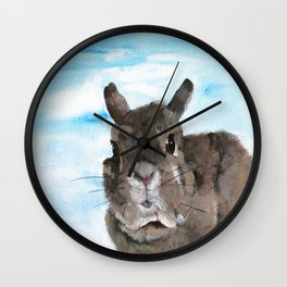 Peanut the Netherland dwarf rabbit, Easter, Nursery Wall Clock