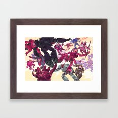 The Battle of Cats and Dogs Framed Art Print
