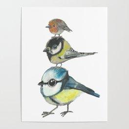 Tree Little Birds Poster