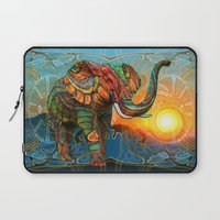 elephant Laptop Sleeves featuring Elephant's Dream by Waelad Akadan