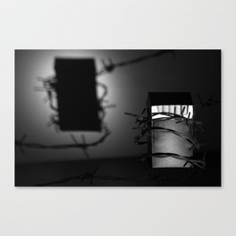 cigarette pack with a shadow Canvas Print