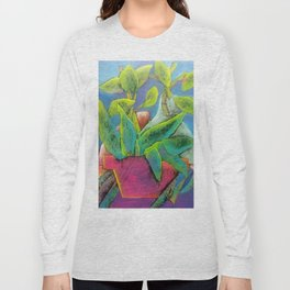 Misty Potted Plant Long Sleeve T-shirt