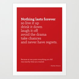 Life is Short Quote Poster Art Print
