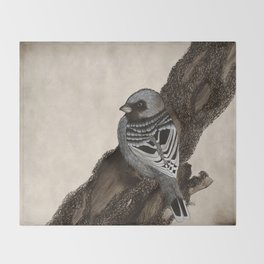 Sumi Sparrow Throw Blanket