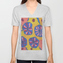 Colorful Retro Abstract Funk Unisex V-Neck