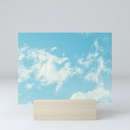 Perfect Blue Summer Sky Nature Photography Mini Art Print
