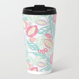 Pastel Fruits Metal Travel Mug
