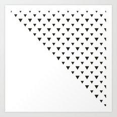 Falling Black and white Triangles Art Print