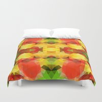 fruits Duvet Covers featuring Fruits by Veronika