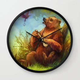 Bear and ukulele Wall Clock