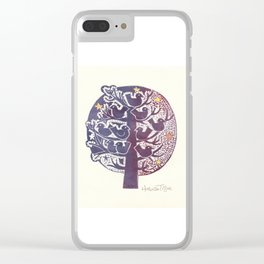 Untitled (tree), etching Clear iPhone Case