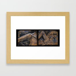 something in the way she moves Framed Art Print