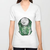 coca cola V-neck T-shirts featuring Coca-Cola Life by Kenny Risk
