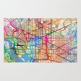 Washington DC Street Map Rug