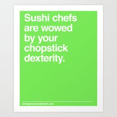 Chopstick Dexterity  Art Print