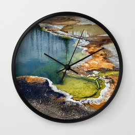 Colors of Yellowstone Wall Clock