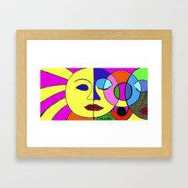 Sunshine and Moon Framed Art Print