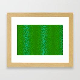 Bright Green Leopard Print Framed Art Print