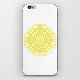 Mandala 12 / 2 eden spirit yellow iPhone Skin