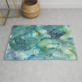 Wild Peace Lily Rug