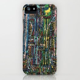 Awakening, people and words iPhone Case