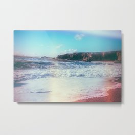 California Sunshine Waves Metal Print