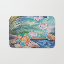 Pond With Squirtle And Goldeen Bath Mat
