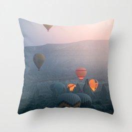 Balloons over Cappadocia Throw Pillow