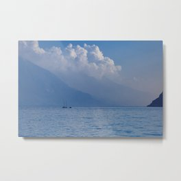 Lake Garda in the Blue Mist Metal Print