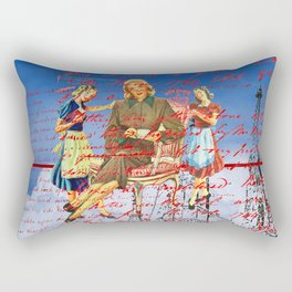 THE LETTER ABOUT THE NINE LEGS IN THE CLOUDS / PUMPS III Rectangular Pillow