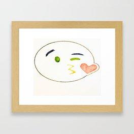 Kiss Emoji Framed Art Print