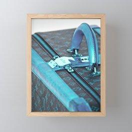 Travel Suitcase, blue Framed Mini Art Print