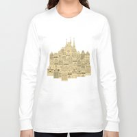 medieval Long Sleeve T-shirts featuring medieval houses  by Elena Trupak
