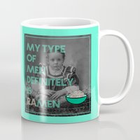 ramen Mugs featuring ramen lover by AmDuf