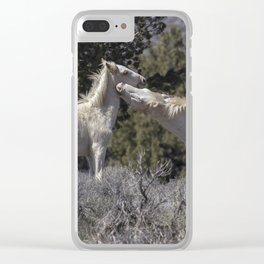 Wild Horses with Playful Spirits No 7 Clear iPhone Case